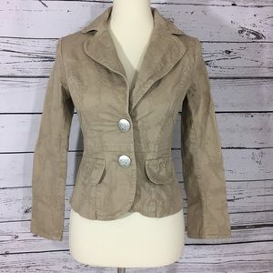 Jacket long sleeve brown size XS